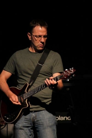 Phil Circle as lead guitarist for a Wisconsin band in 2016.