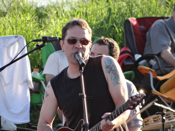 Phil Circle performing with his band at the Sounds Like Summer Concert Series in Eau Claire, Wisconsin in 2014.