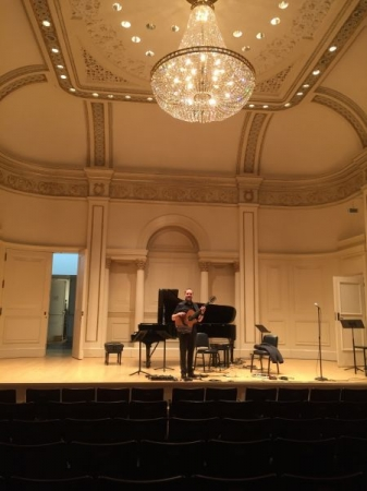 Soundchecking at Carnegie Hall