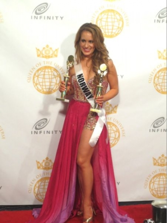 As Miss Norway 2014, Kimberly was a champion for body image issues, winning her the Charity + Queen of the Universe awards.