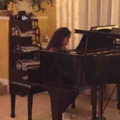 I love my students. This rockstar combines her piano and voice lessons so she can sing AND play