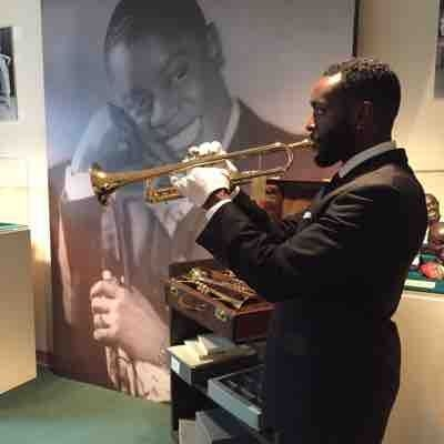 On a visit to the Louis Armstrong archives in Queens,Ny I took advantage of the opportunity to play 5 of Louis Armstrong's Selmer trumpets.