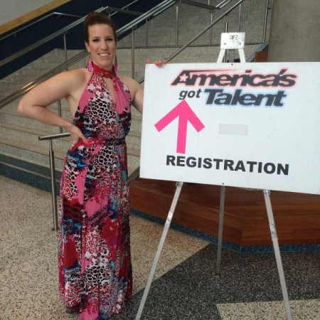 Making it to the next round of auditions with America's Got Talent!