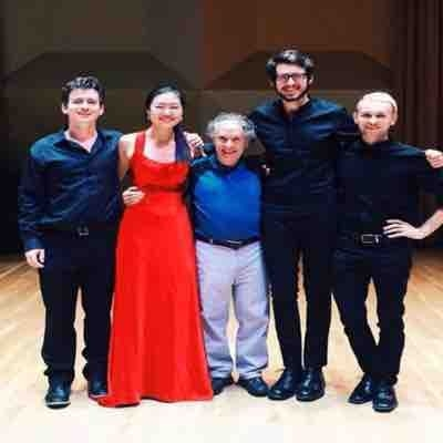 My quartet! With Charles Castleman, our coach, in the middle. Look him up on Google!