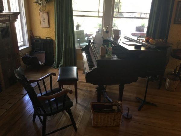Here is where I teach flute and piano.