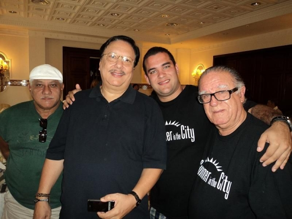 With Mr Arturo Sandoval and my lovely GRand father Mr Manuel Guajiro Mirabal in Teano Jazz Festival,Italy
