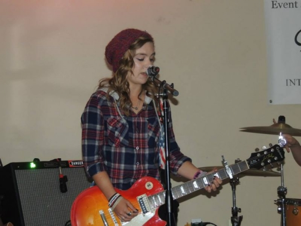 Performing live with Just My Luck, Dec '15