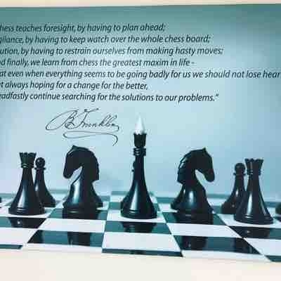 One of my favorite quotes on chess...by Ben Franklin.