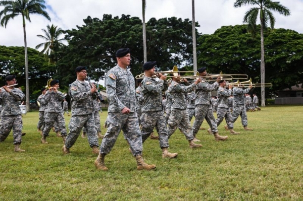 300th Army Band at Schofield Barracks, Honolulu, HI