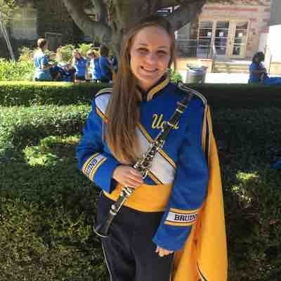Me in the UCLA marching band