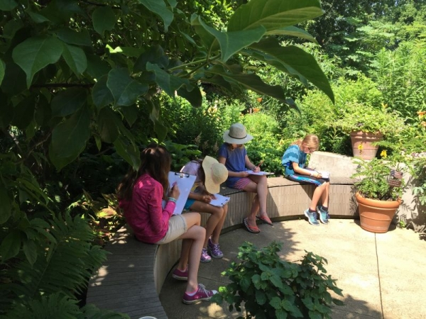One of Jane's summer classes for youth at the Cleveland Botanical Garden.