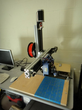 My custom built CNC machine.