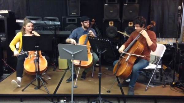 Here, I am playing a seminar with my cello trio :)