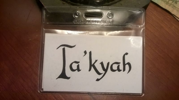 "Name tag calligraphy I did for ""BallroomCafé,"" my 4th & 5th grade dance program."