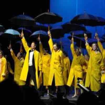 "A snapshot of the reprise of ""Singin' in the Rain,"" choreographed by Lynne Jacobellis."