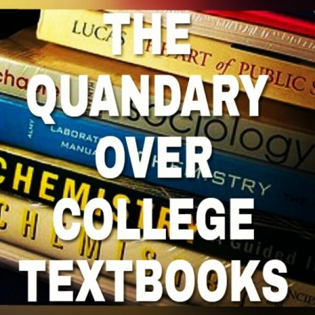 "College textbook savings! Checkout my latest Instagram post about ""The Quandary over College Textbooks"" at:  @kufikia_kwa_nyota."