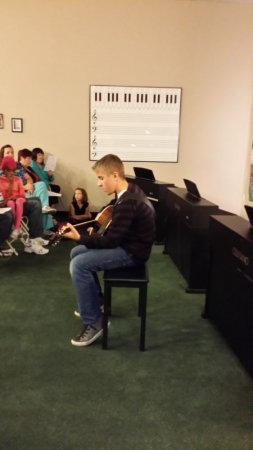 Students get to perform for their families.
