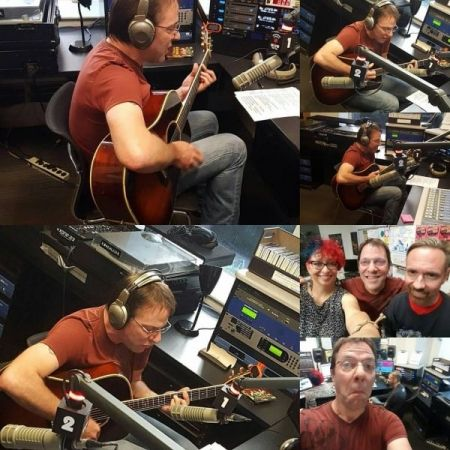 During one of many 2016 radio appearances in Chicago.