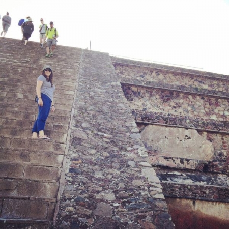 On a trip to Mexico! Climbing the sacred temples
