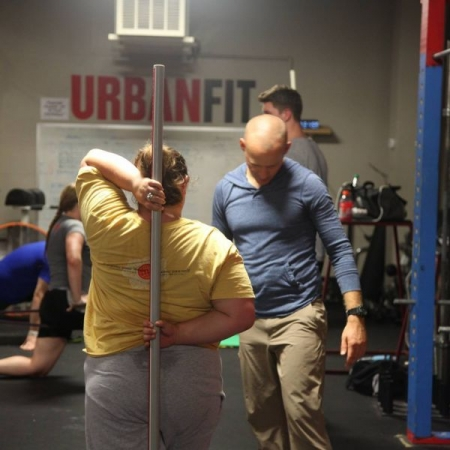 Conducting a Functional Movement Screen with a client in Alexandria, VA. (2015)