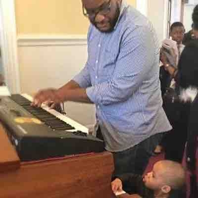 My Godson and I playing Sunday after church.