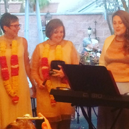 Julia singing and playing for an Indian/American wedding :)