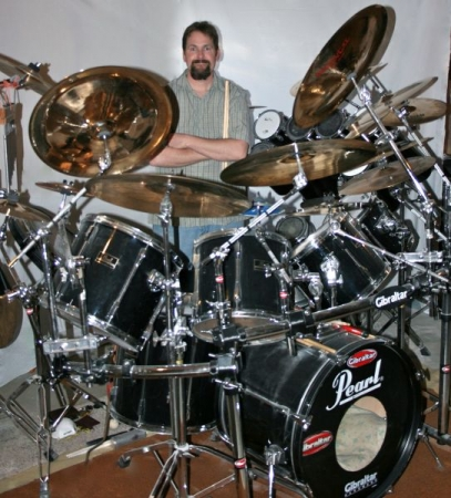 My Drumset a few years back, now it's even bigger! :)