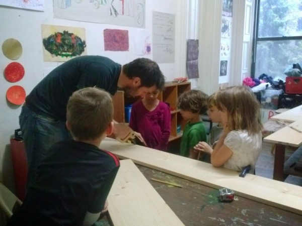 Teaching woodworking to elementary aged children
