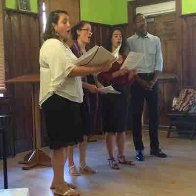 Singing quartets at a summer concert in Cambridge, MA. 2016