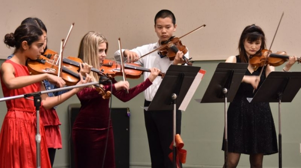 My students and I performing at 2016 Xtmas concert.