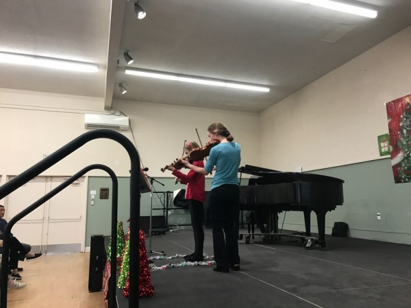 Mom and daughter ( both are my students) playing a duet at 2016 Xtmas concert !