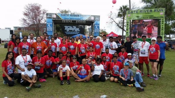My running group - we raise money for an organization called ASHA who help children in India.