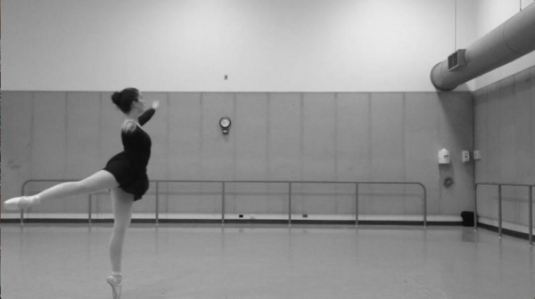 A still from an audition video I made that required dance. :)