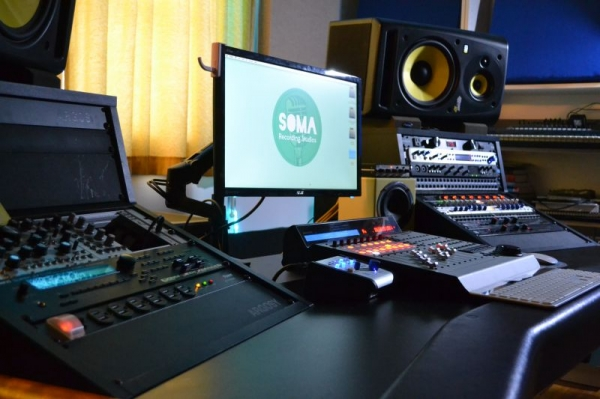 Soma Recording studios - Studio A mixing desk
