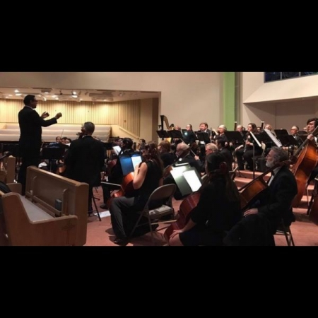 Performing Romeo and Juliet Overture on English Horn with Symphony Irvine, January 2017.