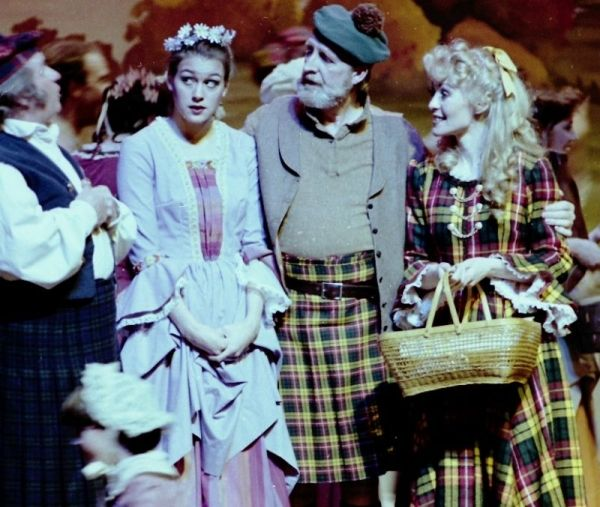 Ruth (right) as Fiona in Brigadoon at the Historic Promised Valley Playhouse in Salt Lake City, Utah.