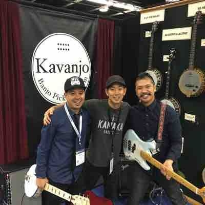 My bro and I kicking it with Jake Shimabukuro at The NAMM Show