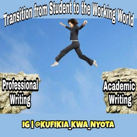 The transition from academic writing to professional writing means considering your audience.