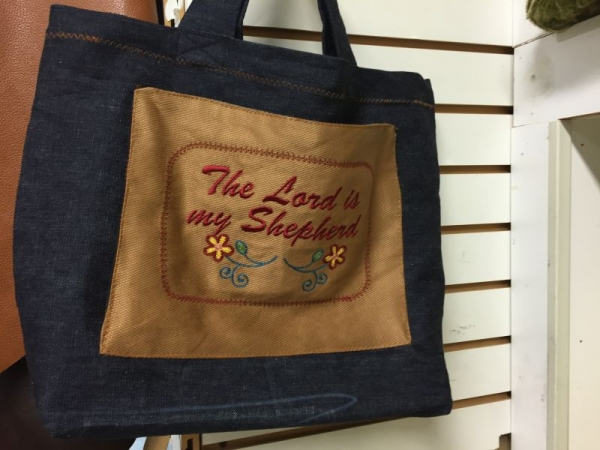 A simple inspirational tote bag.