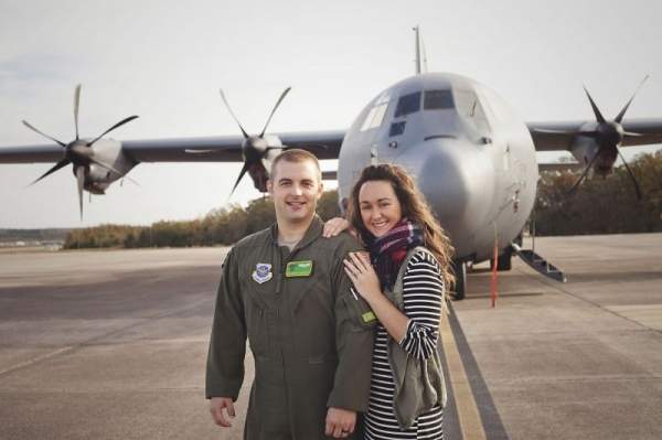 My Airman and I and a good ol Dirty Bird-C130