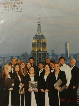 BSU Chamber singers touring at the Empire State Building in NYC, May of 2016!