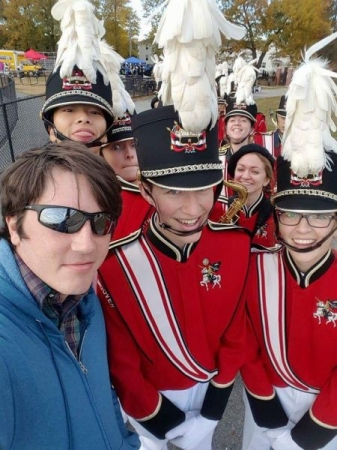 With the North Andover High School Marching Band