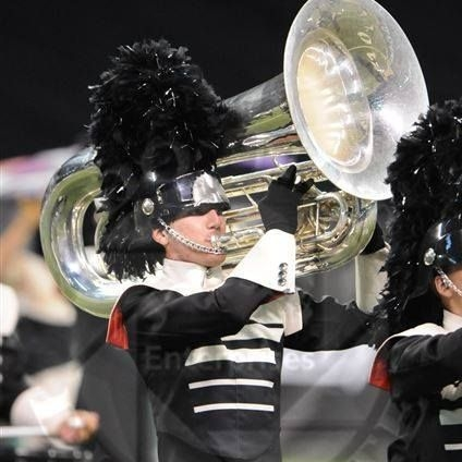 I also once dabbled in tuba. Here I am with the Spartans Drum & Bugle Corps at the Drum Corps International semifinals