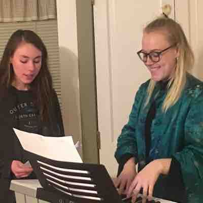 Orla teaches her student Taegan! Taegan is preparing for her Pippin audition at her local high school