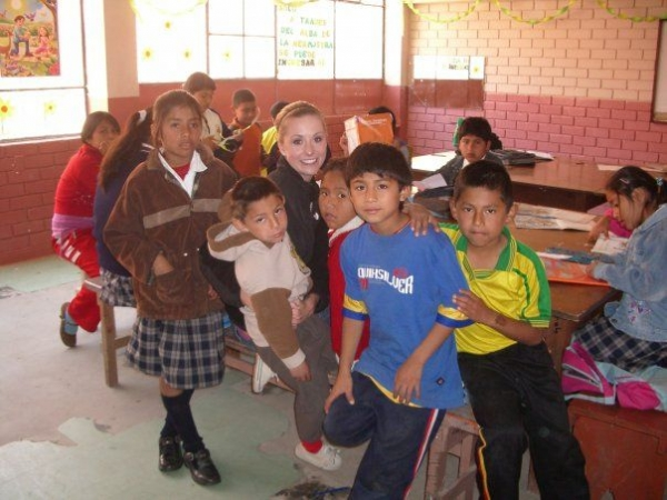 My Peruvian students taking a break from their homework.