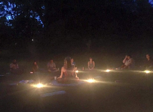 Summer evening starlit and candlelit meditation