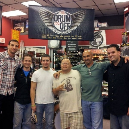 was honored to be a judge at the 2012 Guitar Center Drum-Off. Carlos Mendoza (far right) advanced and later went on to win the championship!
