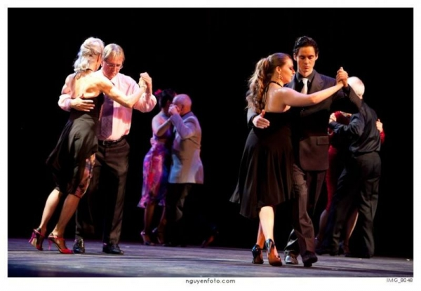 "Onstage at ""Noche De Amor"" at the Rose Marine Theatre in Ft. Worth"