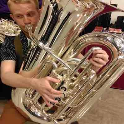 Trying tubas at the 2016 International Tuba and Euphonium Conference!