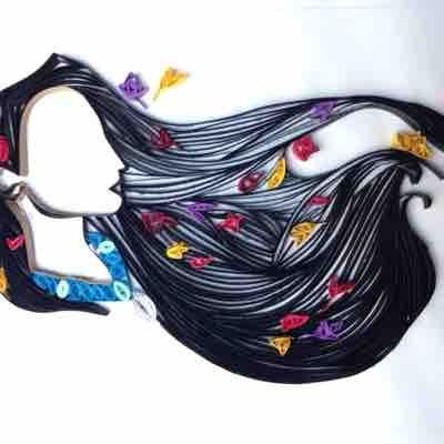 Quilled paper native princess